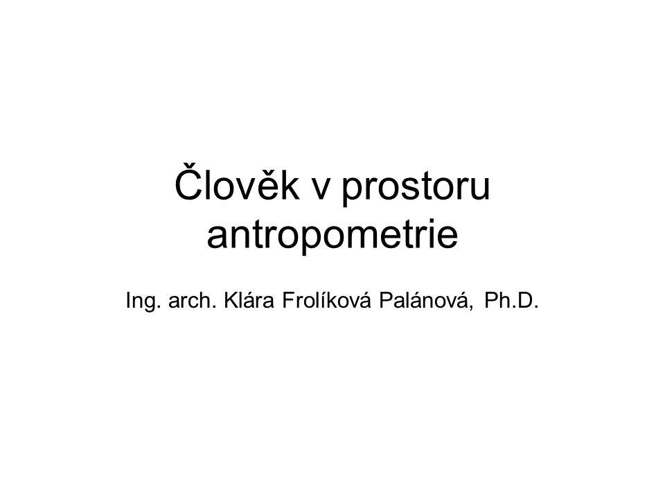 Člověk v prostoru antropometrie
