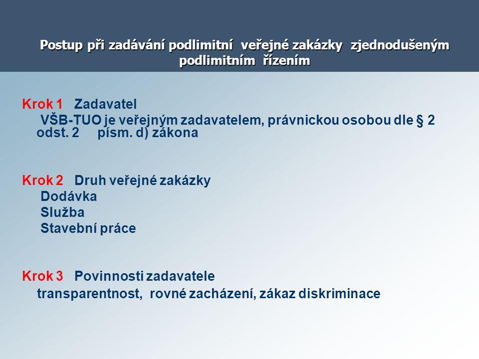 Krok 2 Druh veřejné zakázky Dodávka Služba Stavební práce