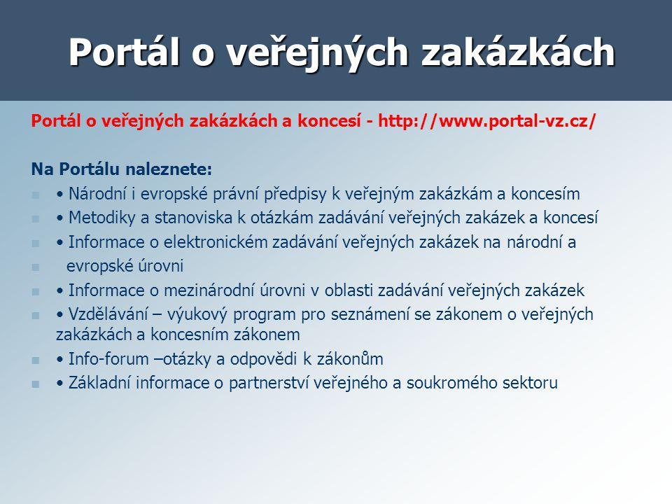 Portál o veřejných zakázkách