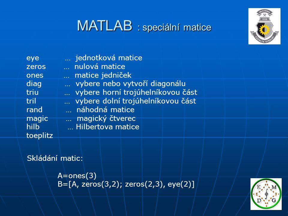 MATLAB : speciální matice