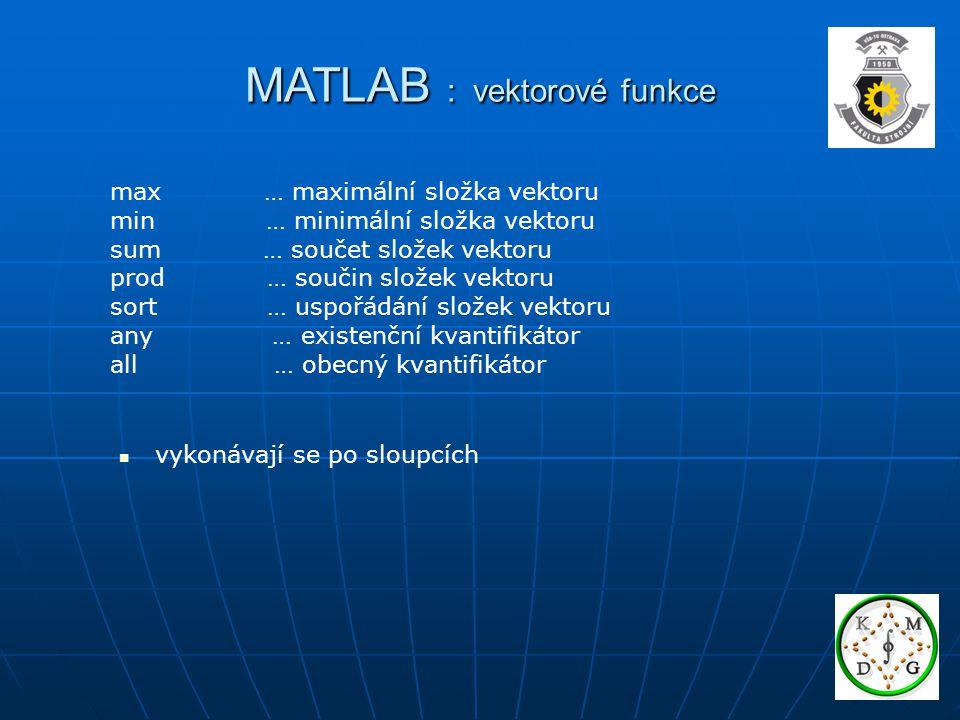 MATLAB : vektorové funkce