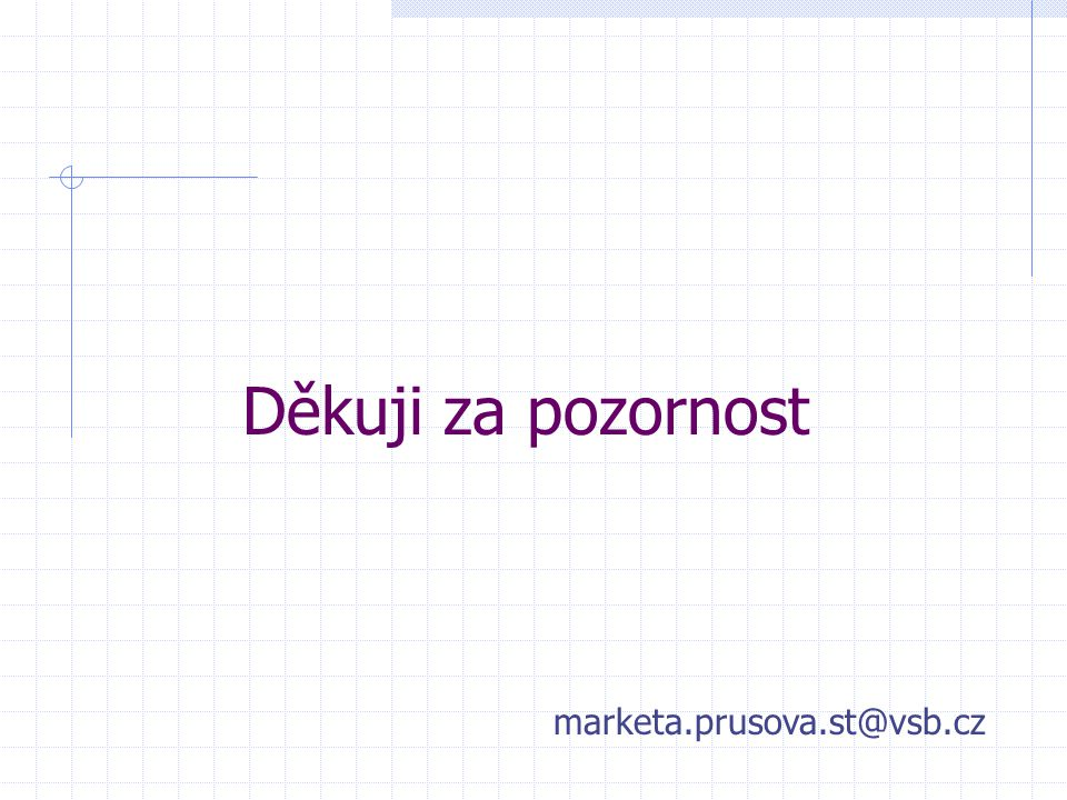 Děkuji za pozornost marketa.prusova.st@vsb.cz