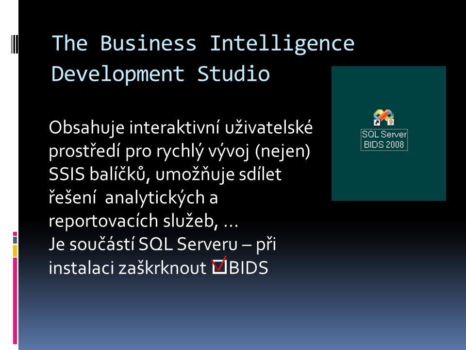 The Business Intelligence Development Studio
