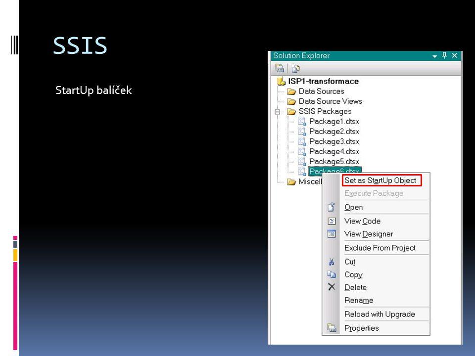 SSIS StartUp balíček
