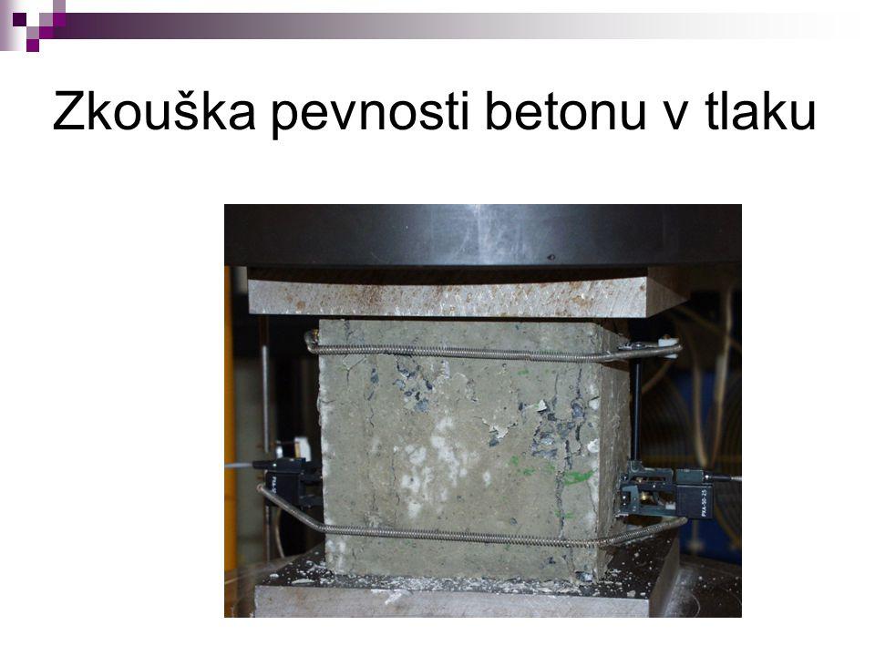 Zkouška pevnosti betonu v tlaku