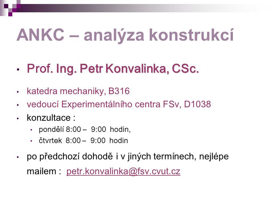 ANKC – analýza konstrukcí