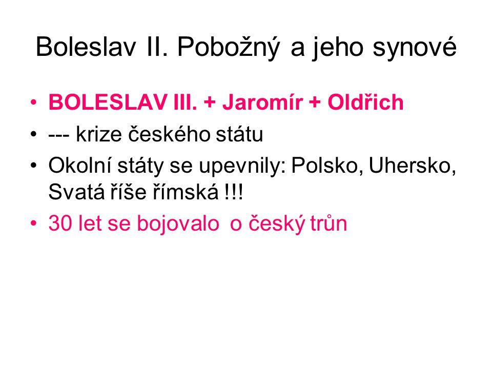 Boleslav II. Pobožný a jeho synové