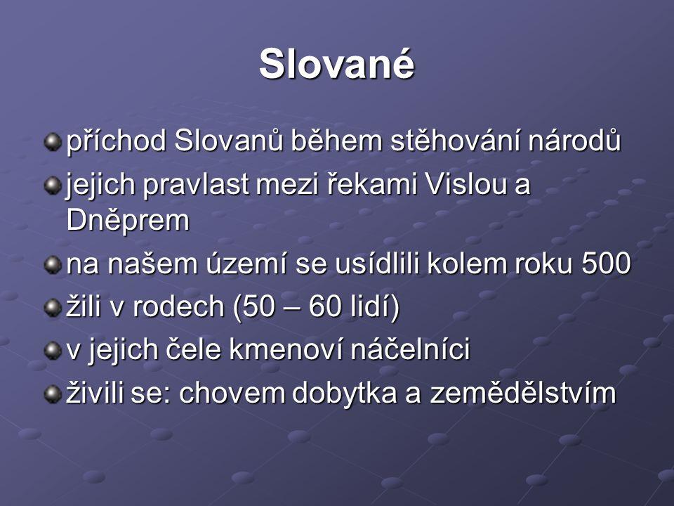 Slované příchod Slovanů během stěhování národů