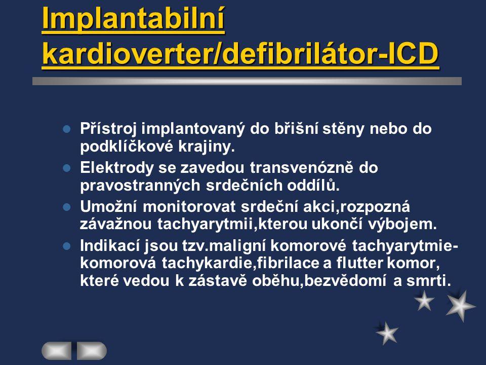 Implantabilní kardioverter/defibrilátor-ICD