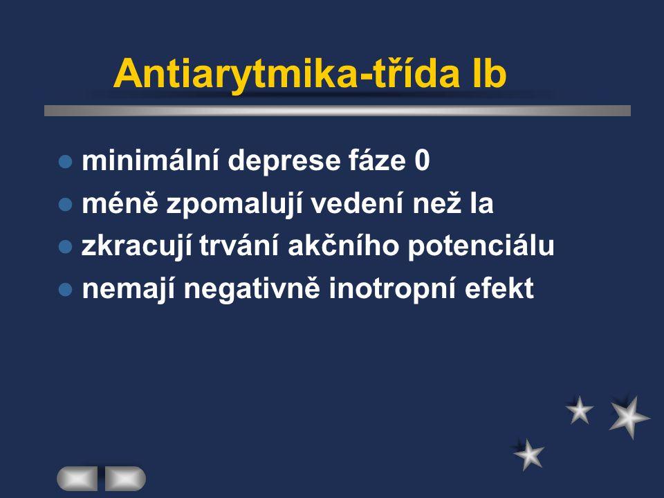 Antiarytmika-třída Ib