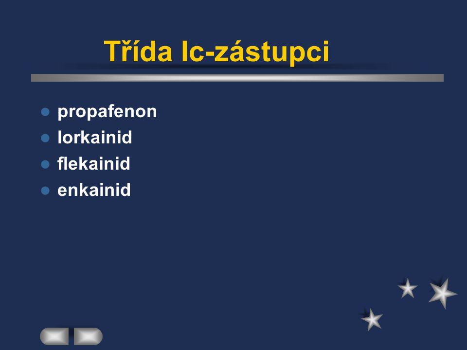 Třída Ic-zástupci propafenon lorkainid flekainid enkainid