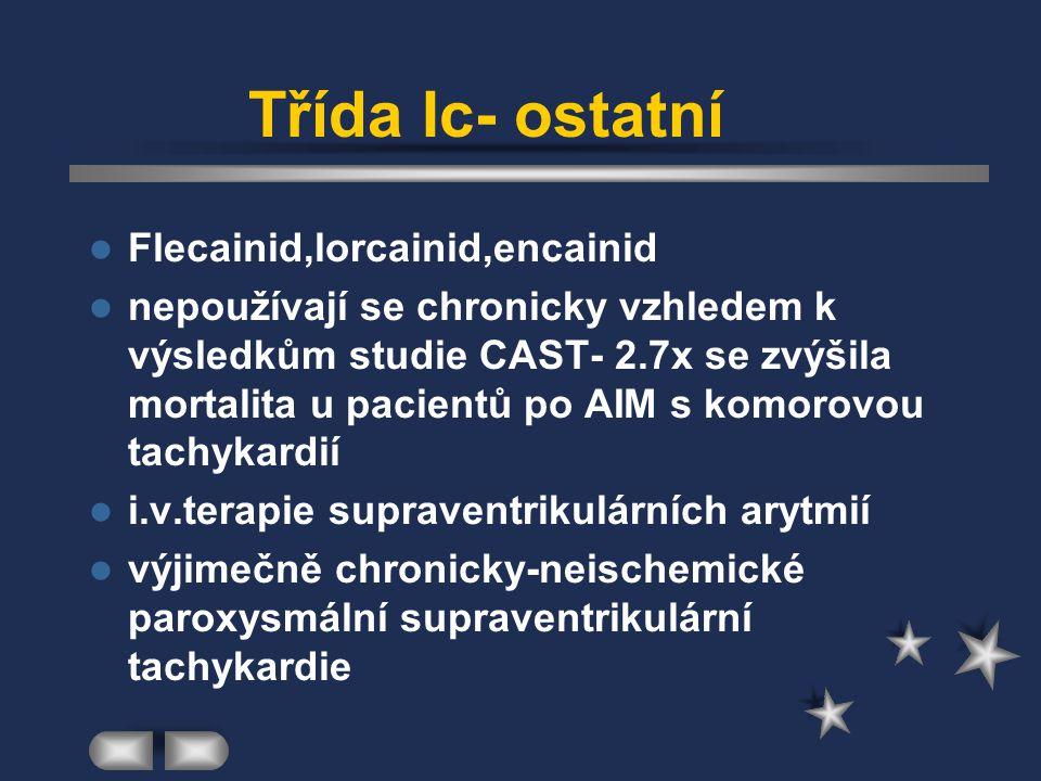 Třída Ic- ostatní Flecainid,lorcainid,encainid