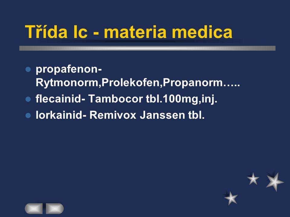 Třída Ic - materia medica