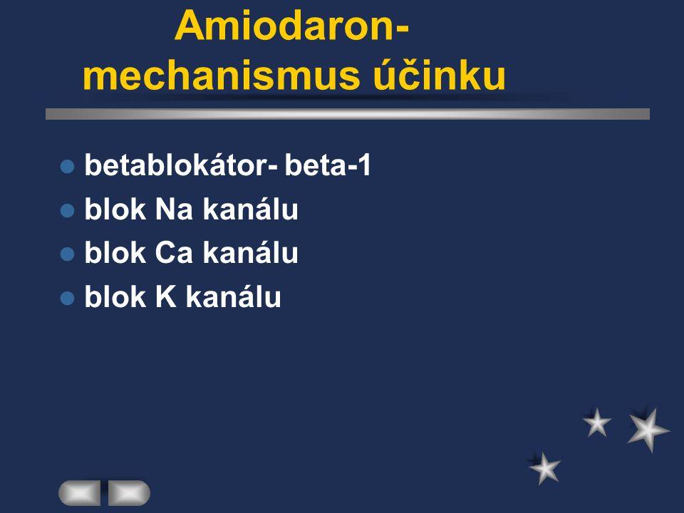 Amiodaron- mechanismus účinku