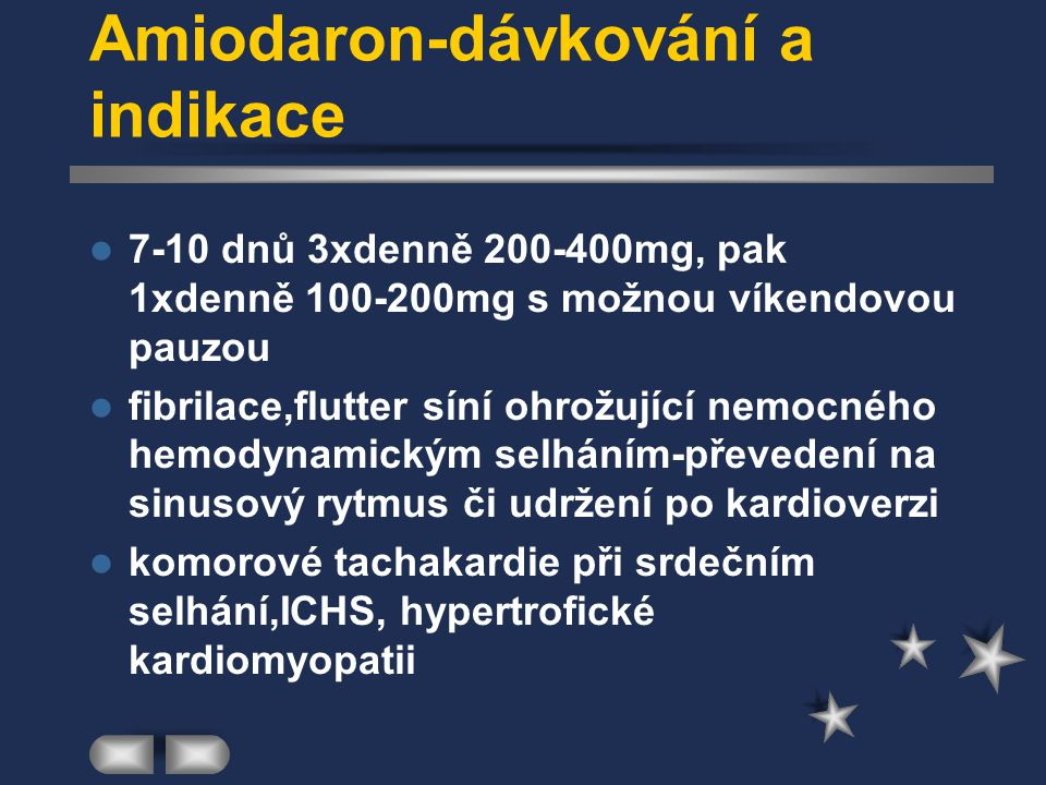 Amiodaron-dávkování a indikace