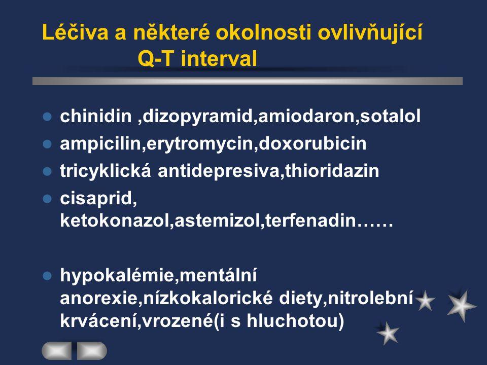 Léčiva a některé okolnosti ovlivňující Q-T interval