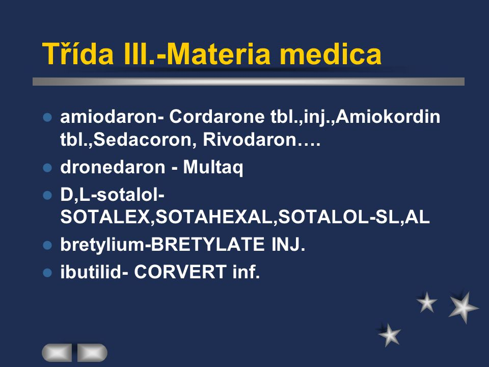 Třída III.-Materia medica