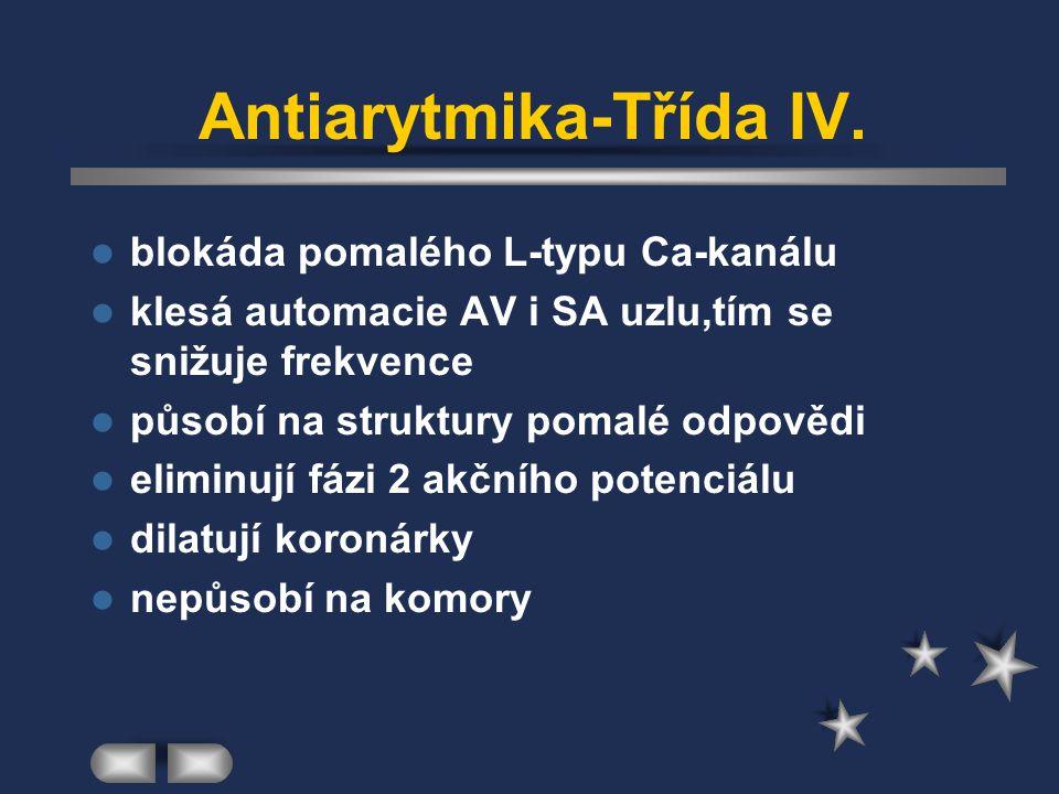 Antiarytmika-Třída IV.