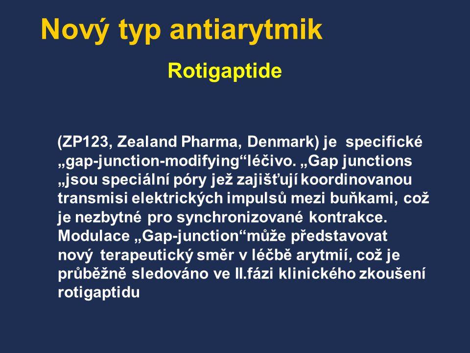 Nový typ antiarytmik Rotigaptide