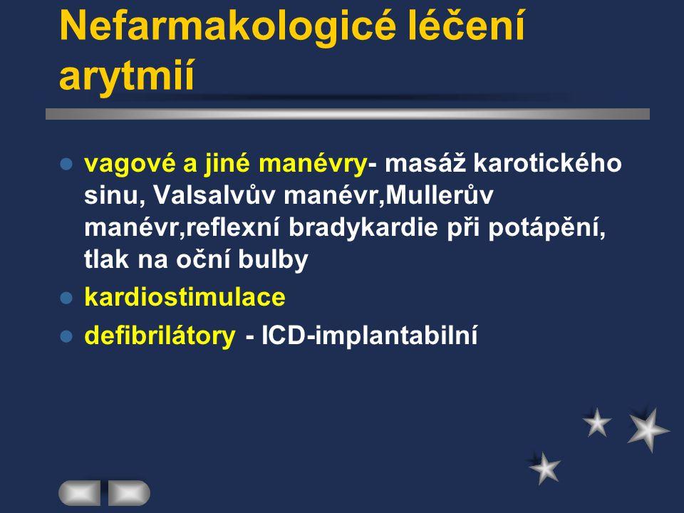 Nefarmakologicé léčení arytmií
