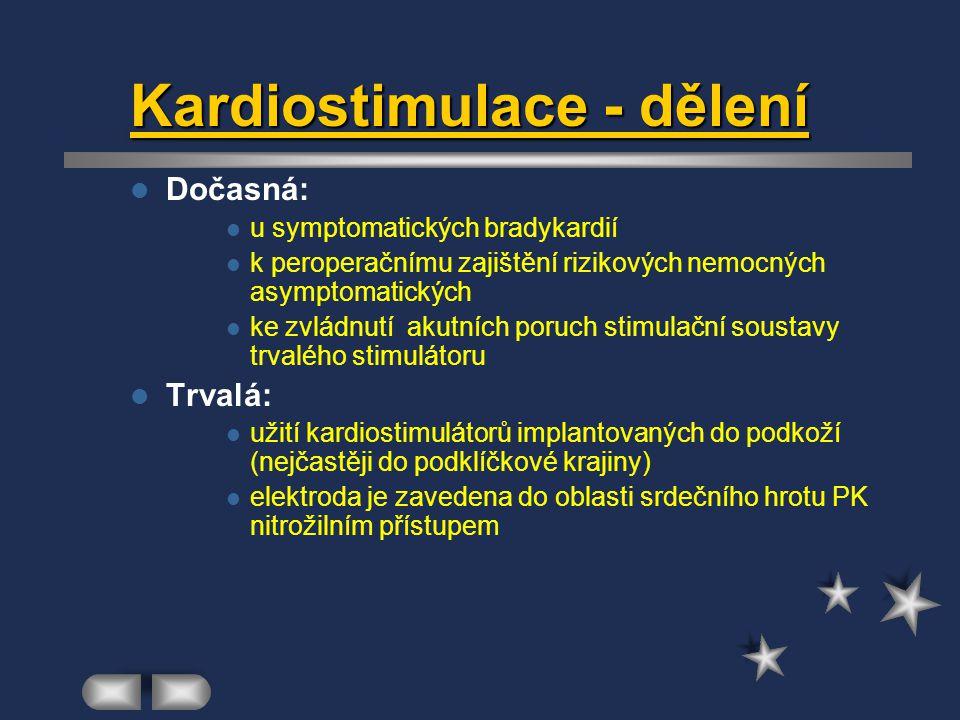 Kardiostimulace - dělení