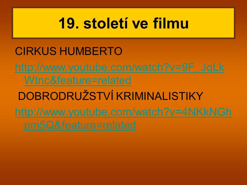 19. století ve filmu CIRKUS HUMBERTO