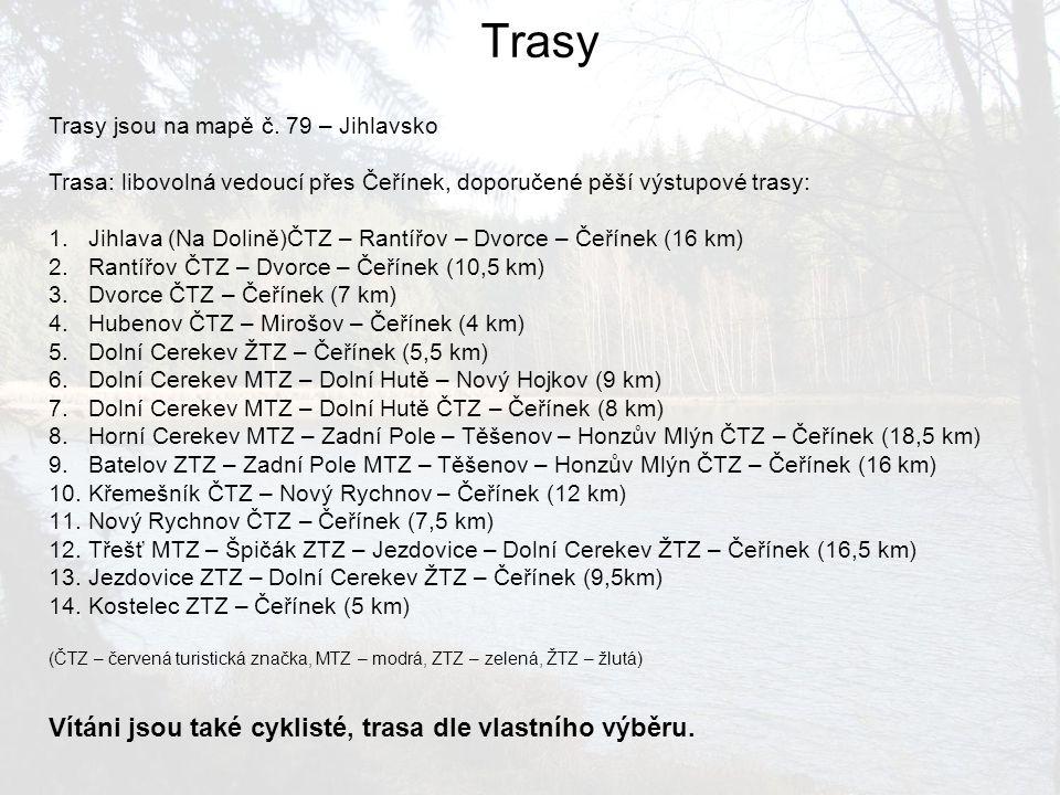Trasy Vítáni jsou také cyklisté, trasa dle vlastního výběru.