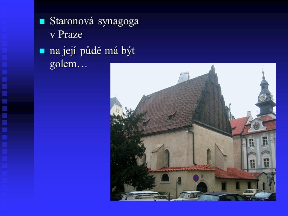 Staronová synagoga v Praze