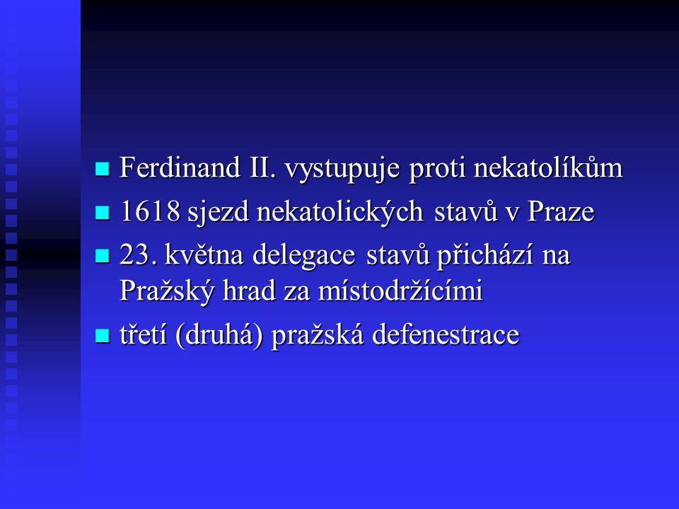 Ferdinand II. vystupuje proti nekatolíkům