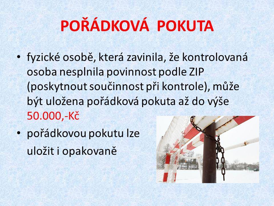 POŘÁDKOVÁ POKUTA