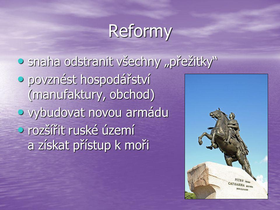 """Reformy snaha odstranit všechny """"přežitky"""