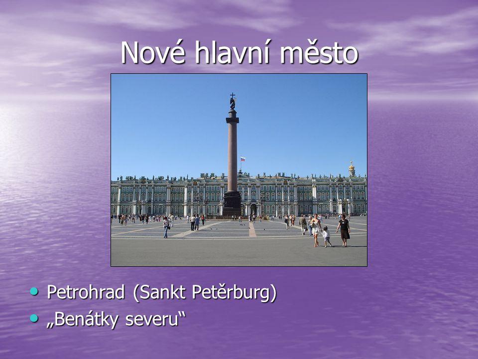 """Nové hlavní město Petrohrad (Sankt Petěrburg) """"Benátky severu"""