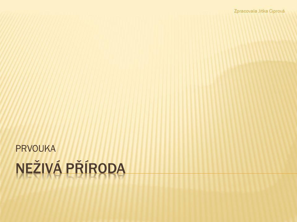 NEŽIVÁ PŘÍRODA PRVOUKA Zpracovala Jitka Ciprová