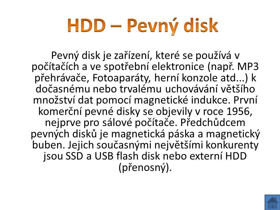 HDD – Pevný disk