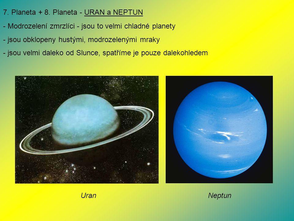 7. Planeta + 8. Planeta - URAN a NEPTUN