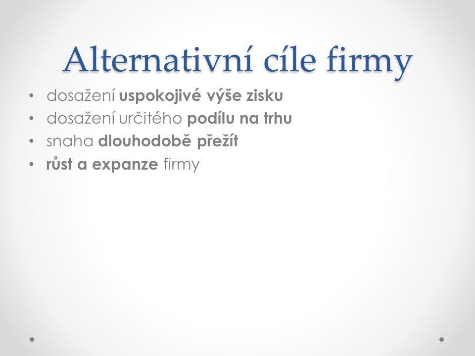 Alternativní cíle firmy