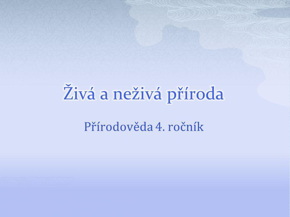 Živá a neživá příroda Přírodověda 4. ročník