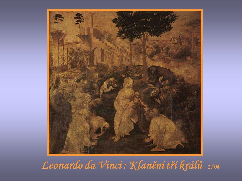 Leonardo da Vinci : Klanění tří králů 1504