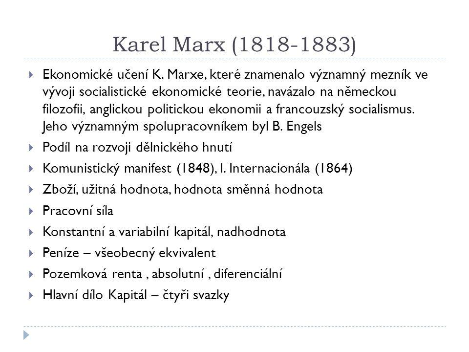 Karel Marx (1818-1883)
