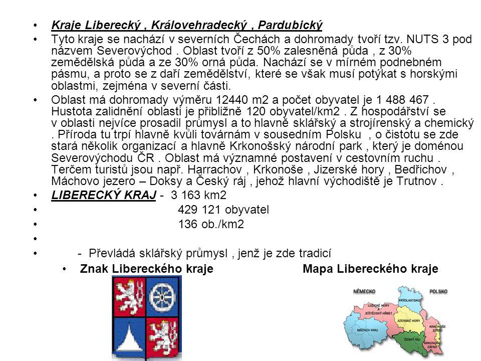 Znak Libereckého kraje Mapa Libereckého kraje