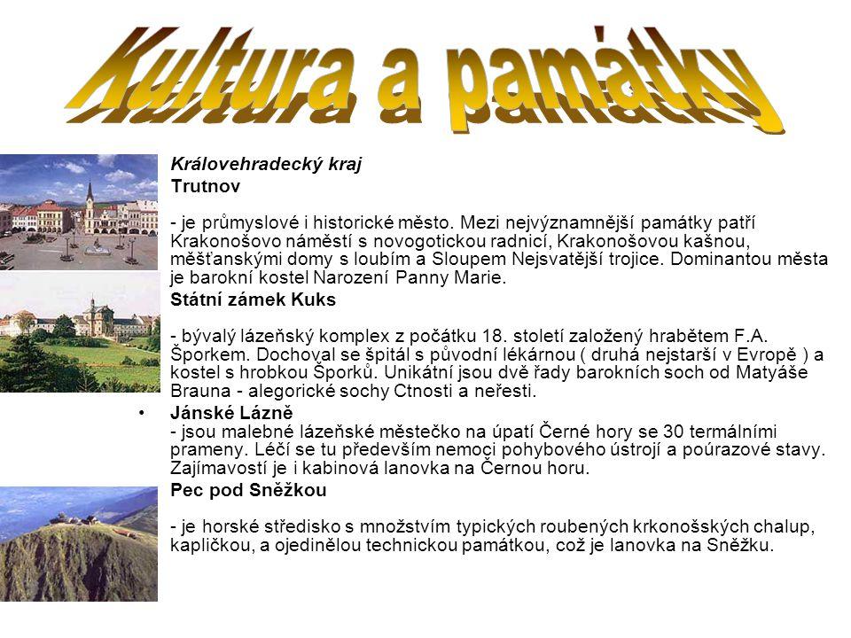 Kultura a památky Královehradecký kraj