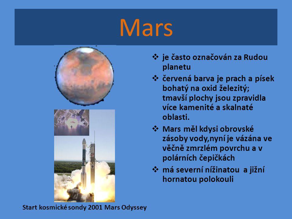 Mars je často označován za Rudou planetu
