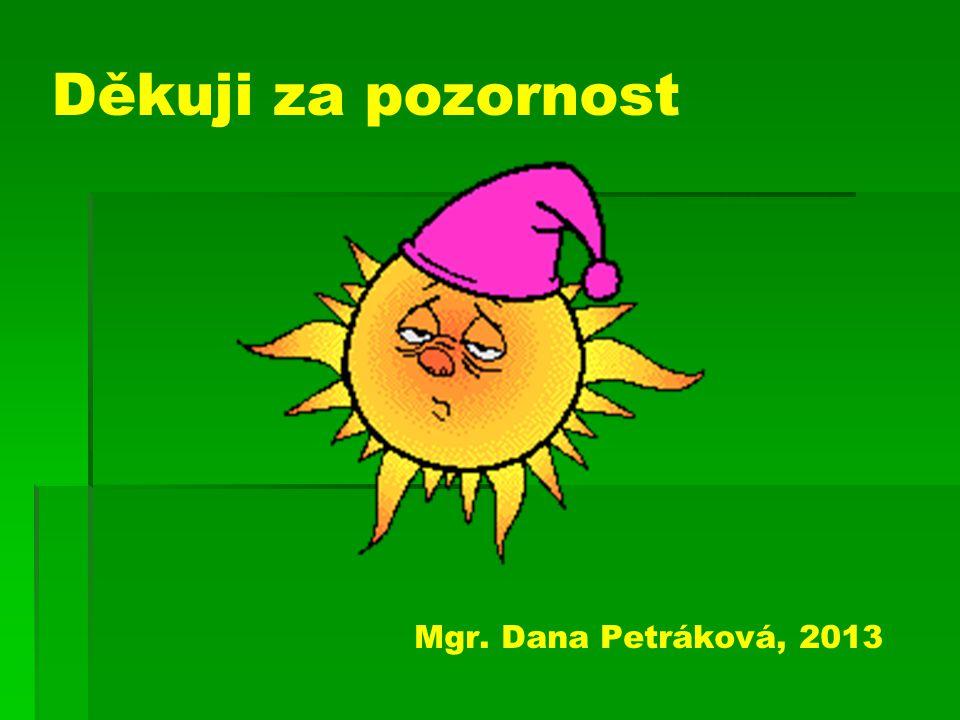 Děkuji za pozornost Mgr. Dana Petráková, 2013