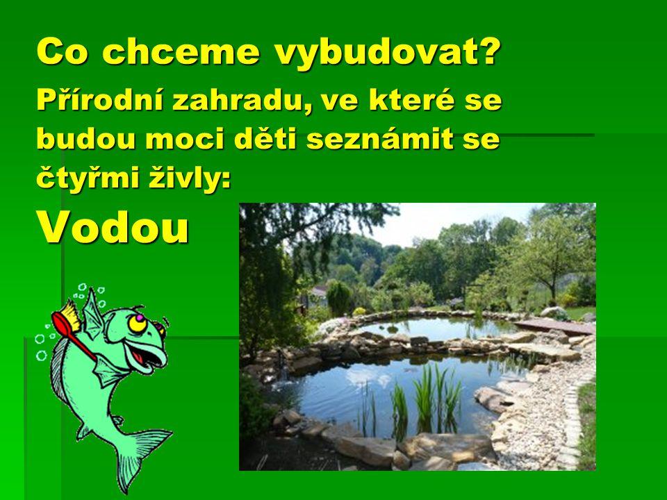 Vodou Co chceme vybudovat Přírodní zahradu, ve které se