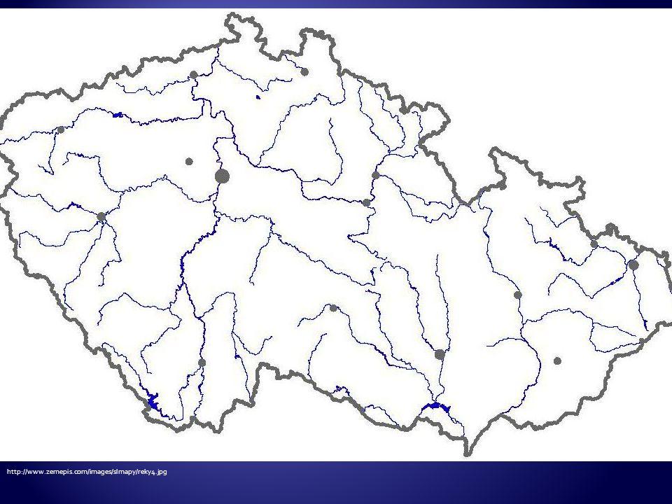 Vyznač na slepé mapě řeku Vltavu a její přítoky