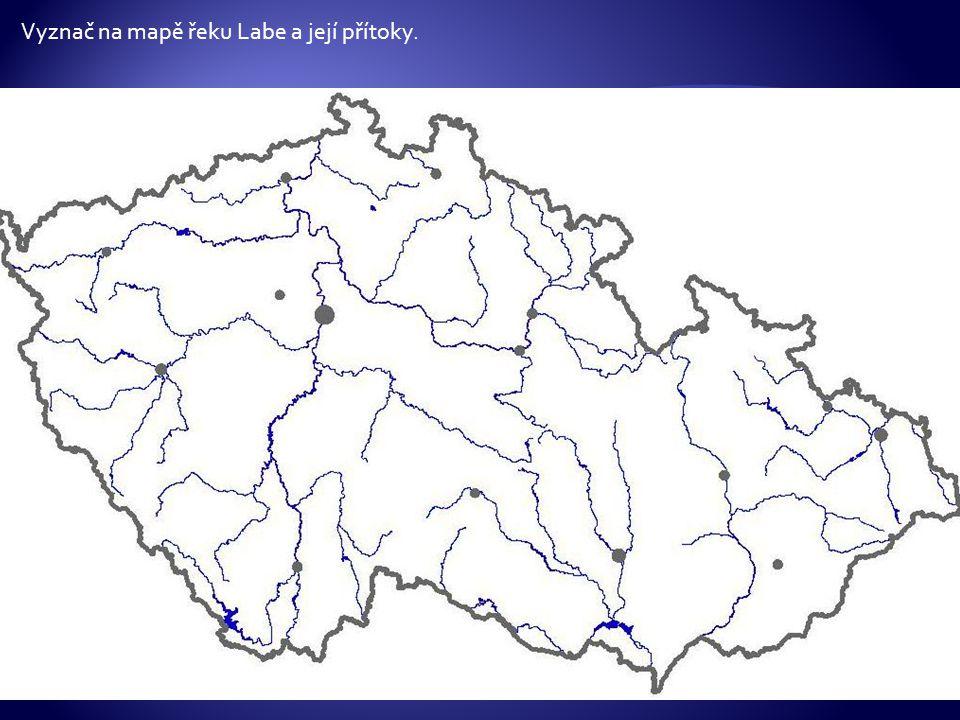Vyznač na mapě řeku Labe a její přítoky.