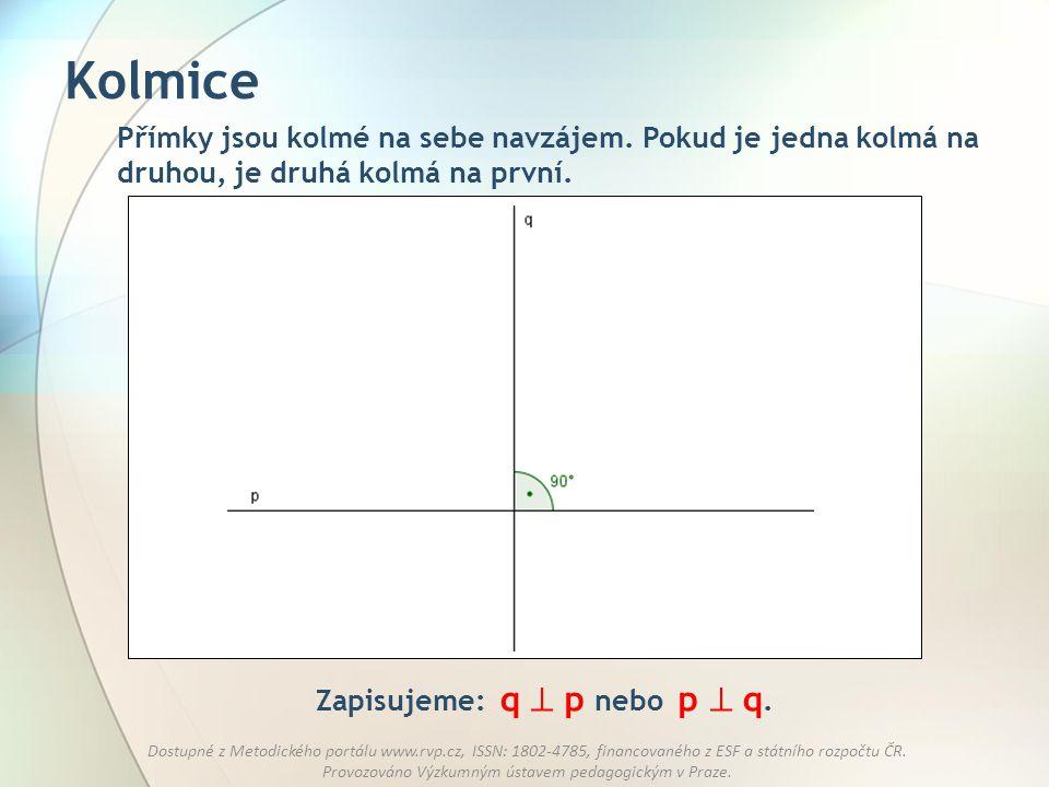 Zapisujeme: q  p nebo p  q.