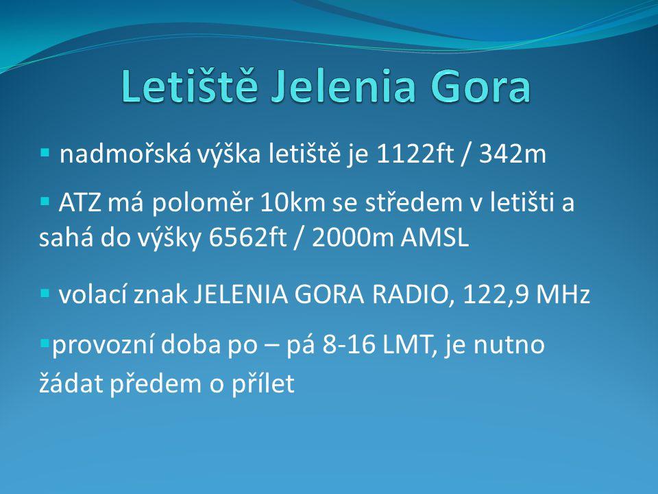 Letiště Jelenia Gora nadmořská výška letiště je 1122ft / 342m