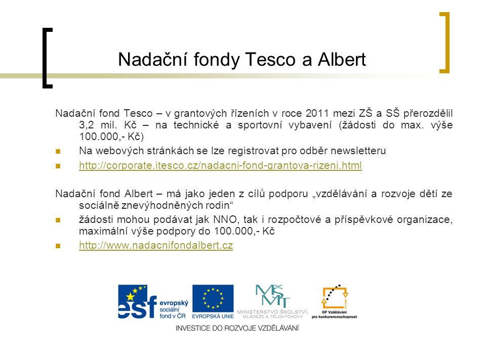 Nadační fondy Tesco a Albert