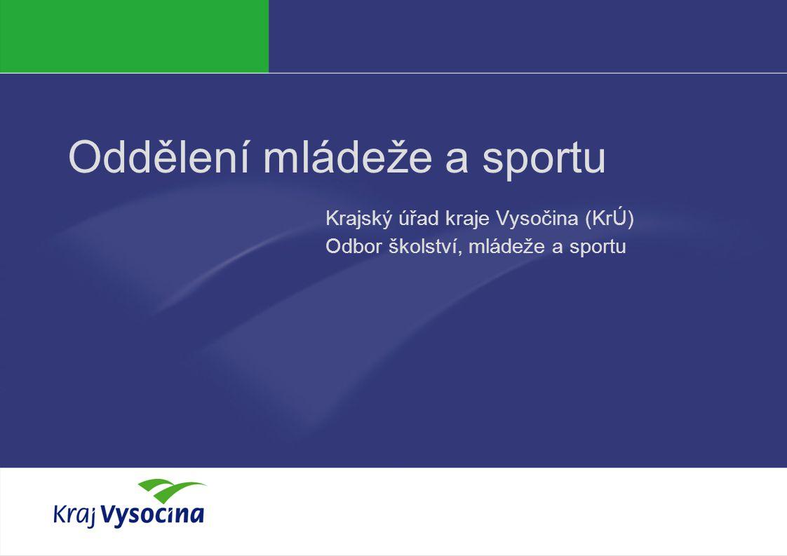 Oddělení mládeže a sportu